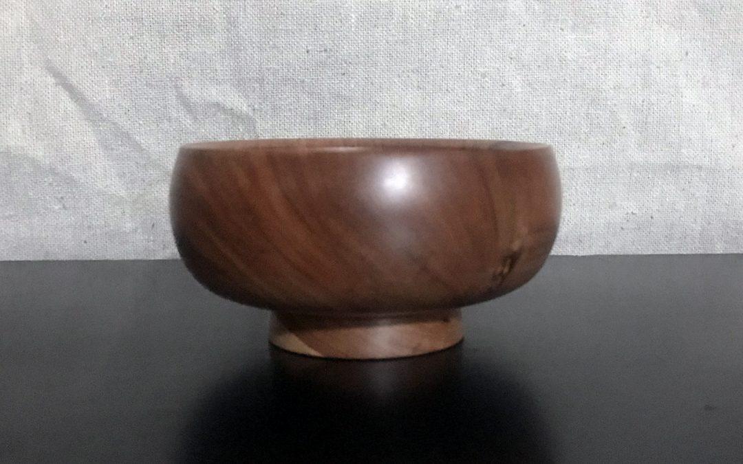 Simple Applewood Bowl Art